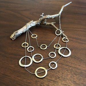 Chico's Silver/Gold tone Necklace